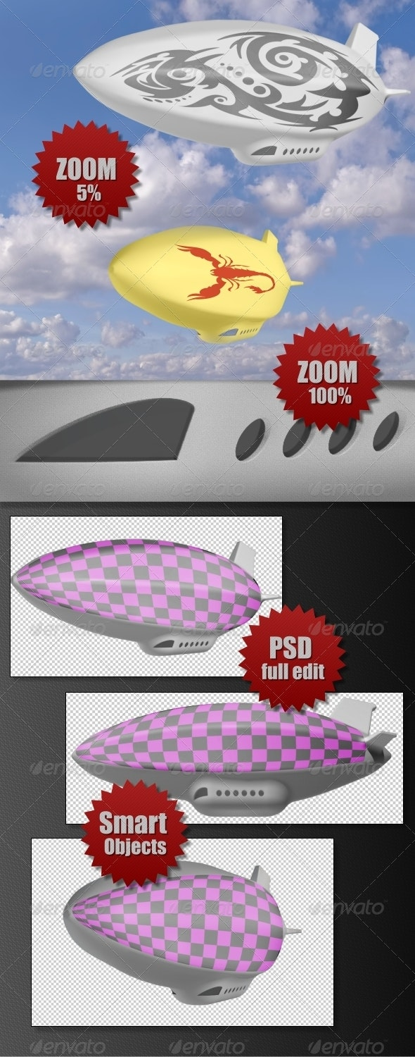 Airship - Objects 3D Renders