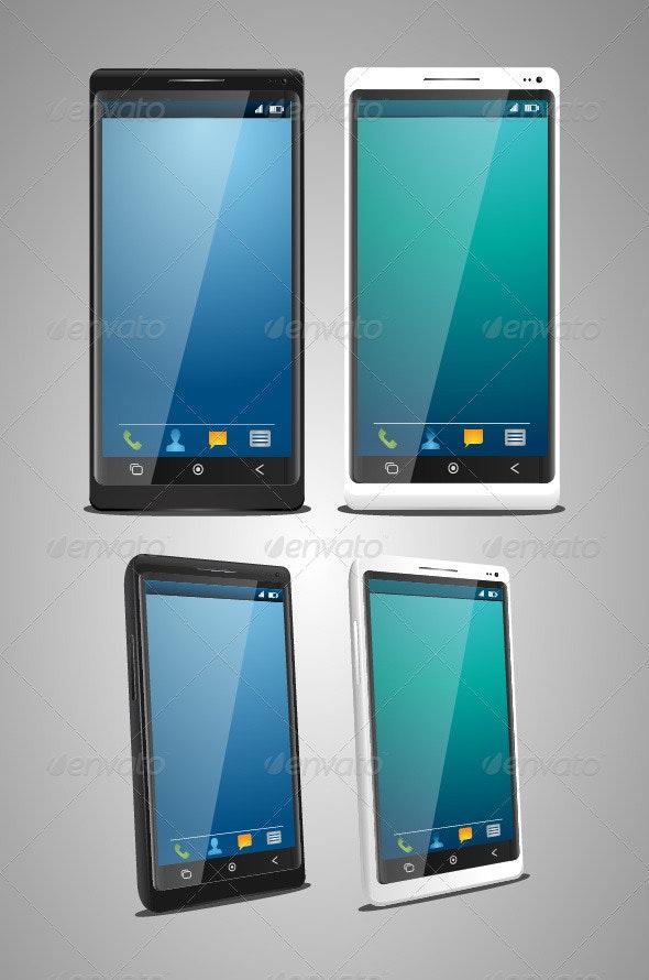 Smart Phone Set - Characters Vectors