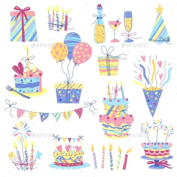 Happy Birthday Icon Set