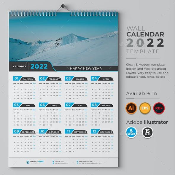 1-Page Wall Calendar 2022