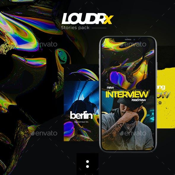 LOUDRx — Stories  Social Media Templates
