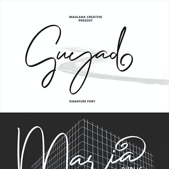 Guyad Signature Brush Font