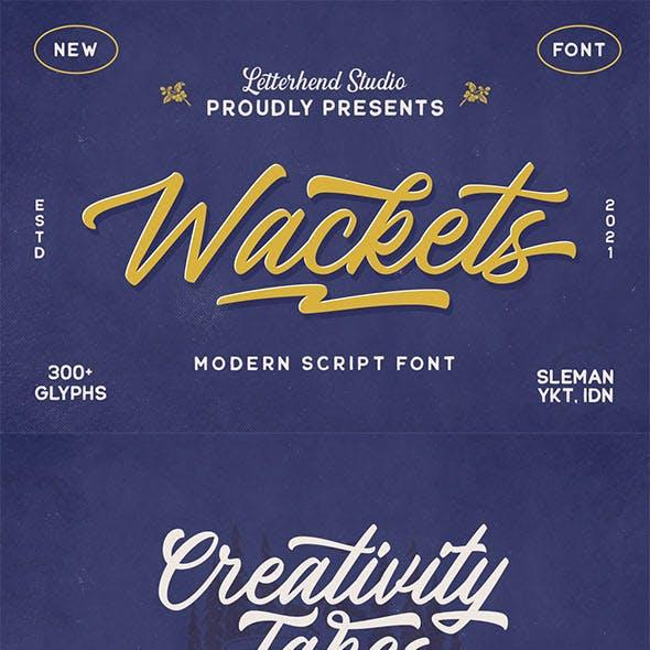 The Wackets - Modern Script
