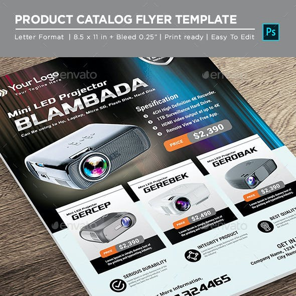 Projector Electronic  Catalogue - Corporate Flyer
