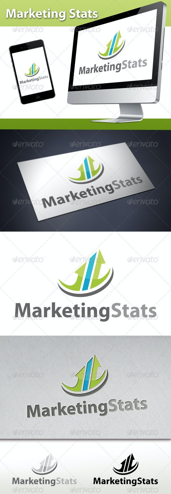 Marketing Stats Logo 1 - Symbols Logo Templates