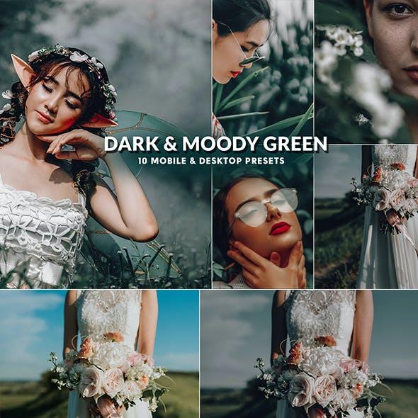 Dark & Moody Green Professional Lightroom Presets