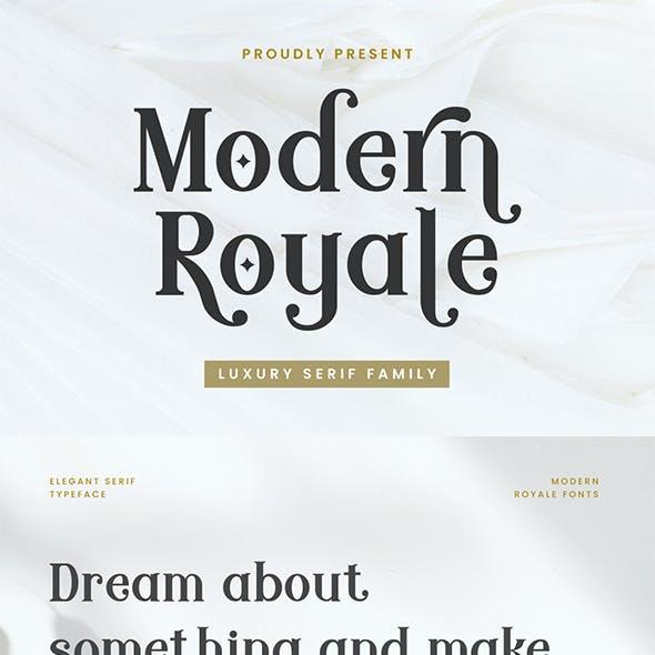 Modern Royale - Luxury Serif Typeface