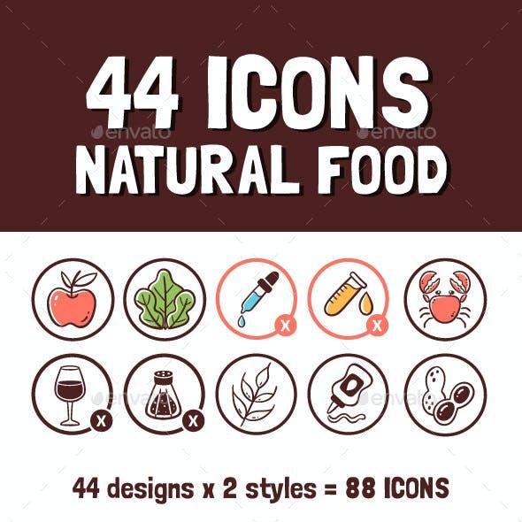 Natural Food Icons