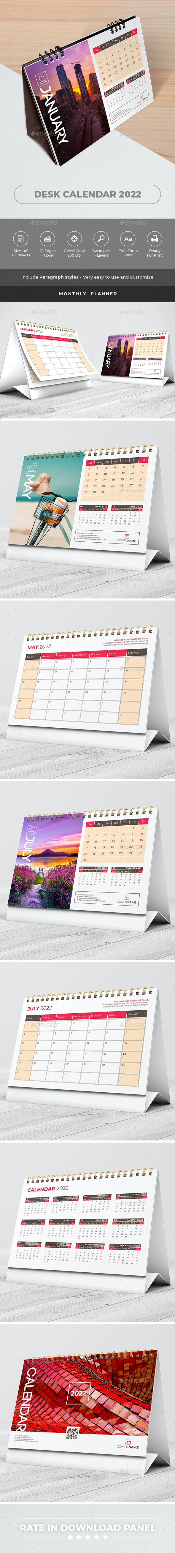 Desk Calendar Planner 2022 - Calendars Stationery