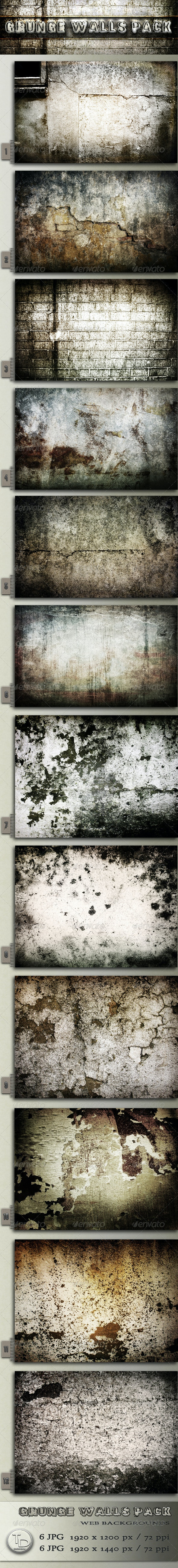 Grunge Walls Pack - Urban Backgrounds