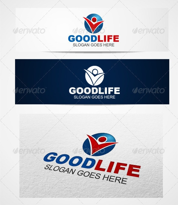 Logo goodlife templates - Humans Logo Templates