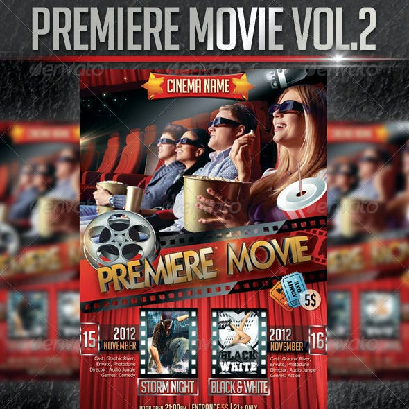 Premiere Movie Flyer Template Vol2