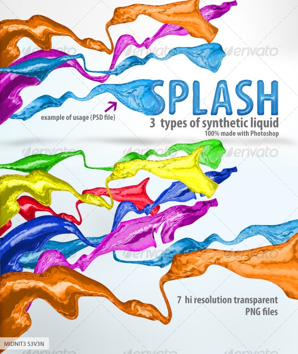 Synthetic Splashing Liquid - Miscellaneous 3D Renders