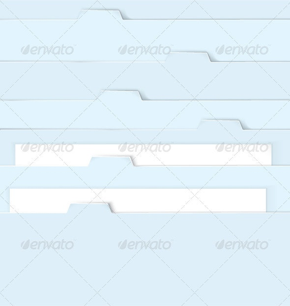 Blue folders with paper - Characters Vectors