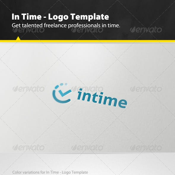 In Time - Logo Template
