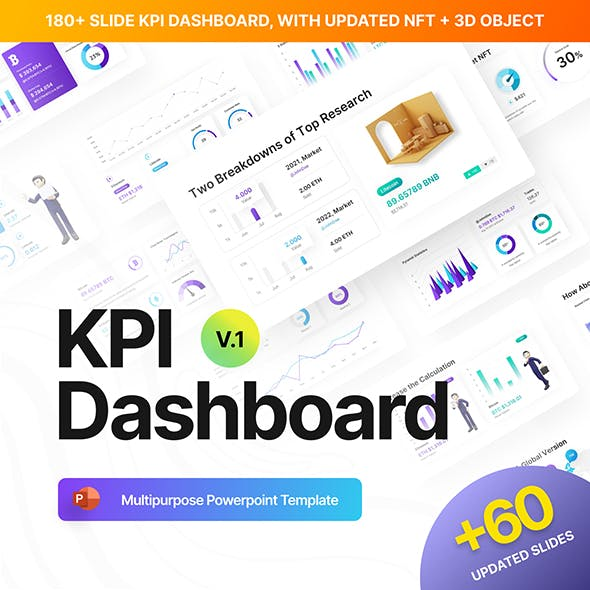 KPI Dashboard Professional PowerPoint Template
