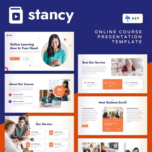 Stancy - Online Course Keynote Template