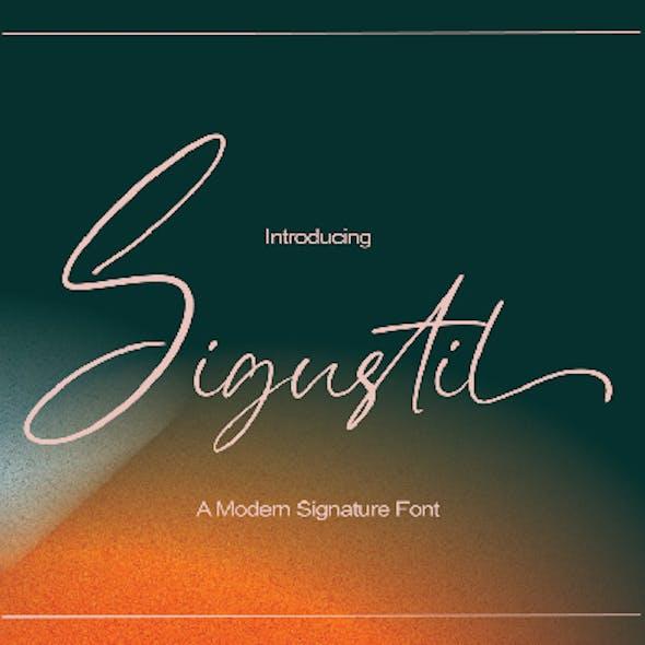 Sigustil - Signature Font