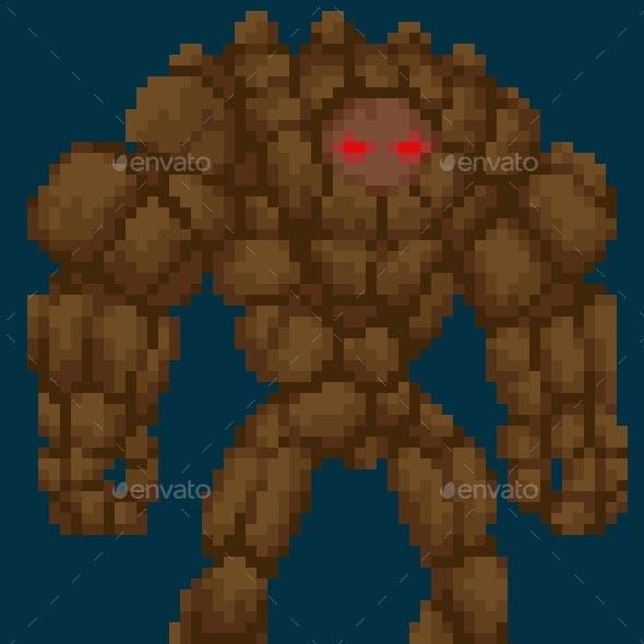 Pixel Art Stonegolem