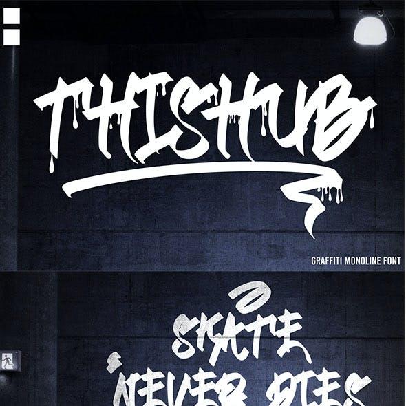 Thishub - Graffiti Font