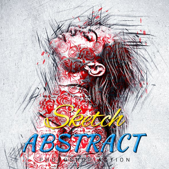 Sketch Abstract Photoshop Action