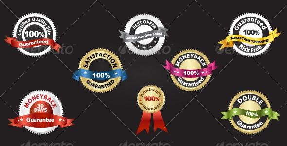 Guarantee Seals & Badge Set - Web Elements