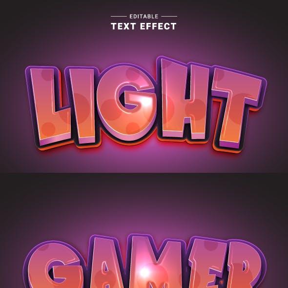 Modern Game Logo Text Effect for Illustrator