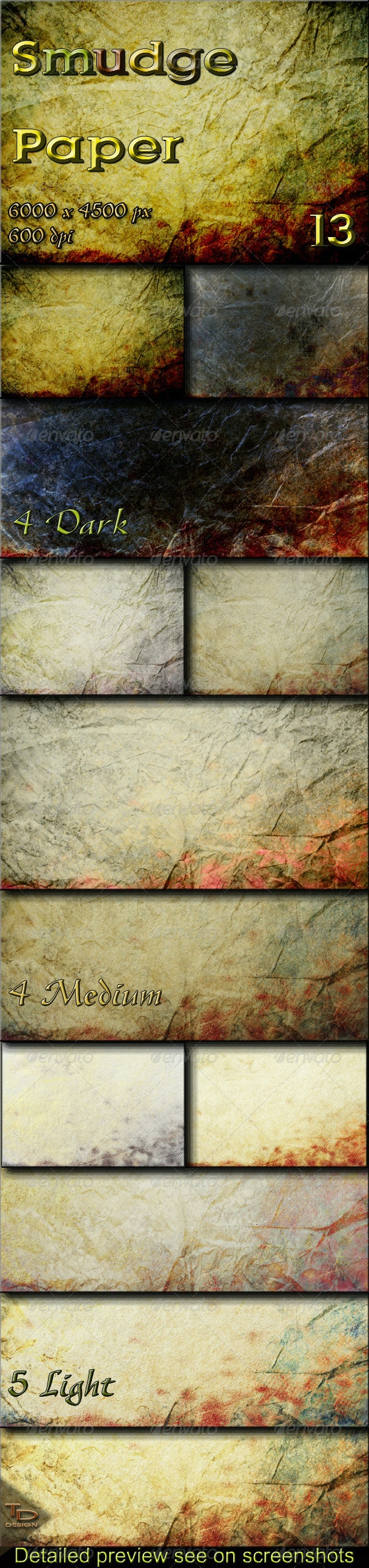 13 Smudge Paper Textures - Abstract Backgrounds