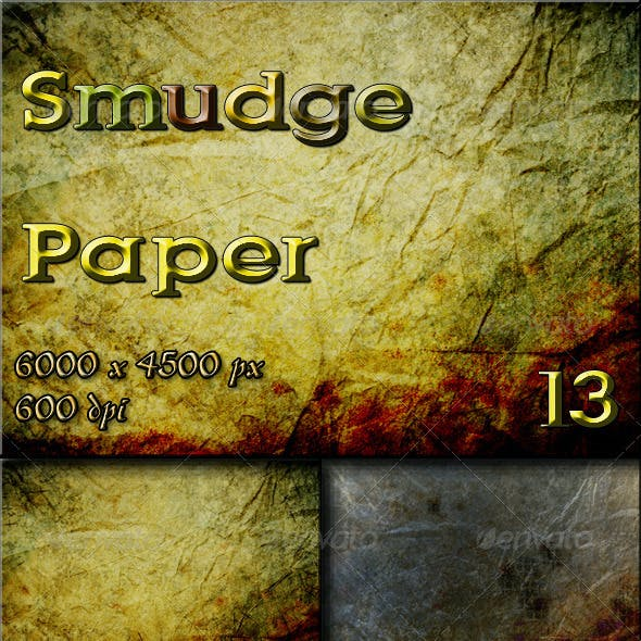 13 Smudge Paper Textures