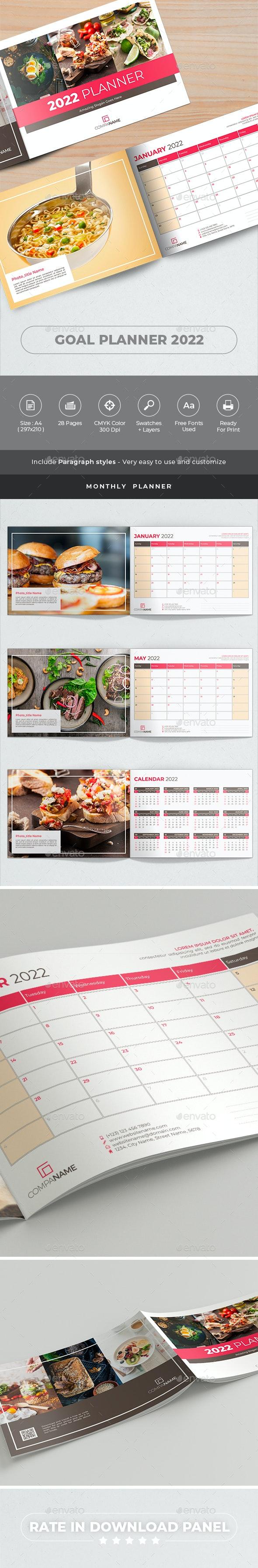 Goal Planner 2022 - Calendars Stationery