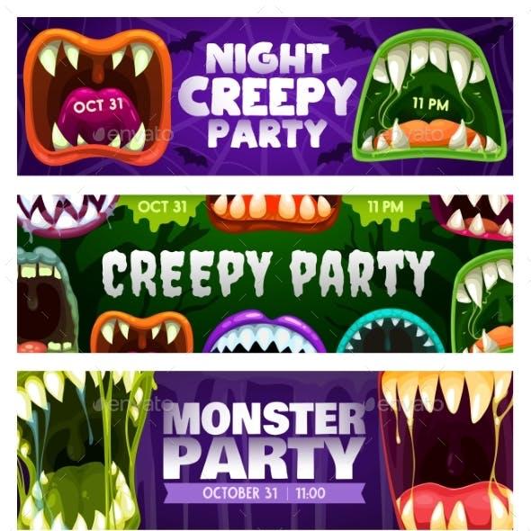 Creepy Party Night Flyers