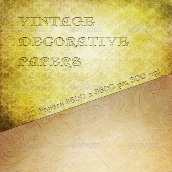 Vintage Decorative Papers