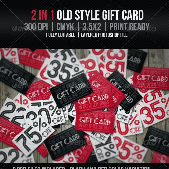 Old Style Gift Card