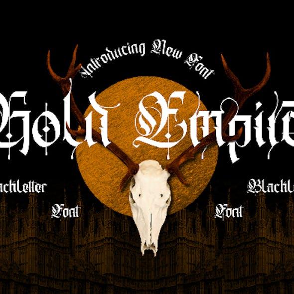 Gold Empire - Blackletter Font