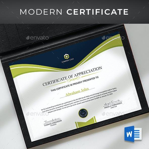 Certificate Word Template