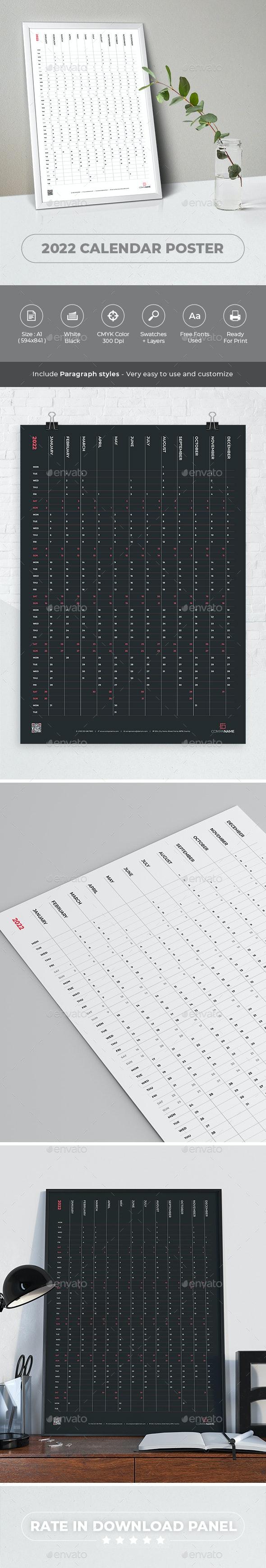 2022 Calendar Poster - Calendars Stationery