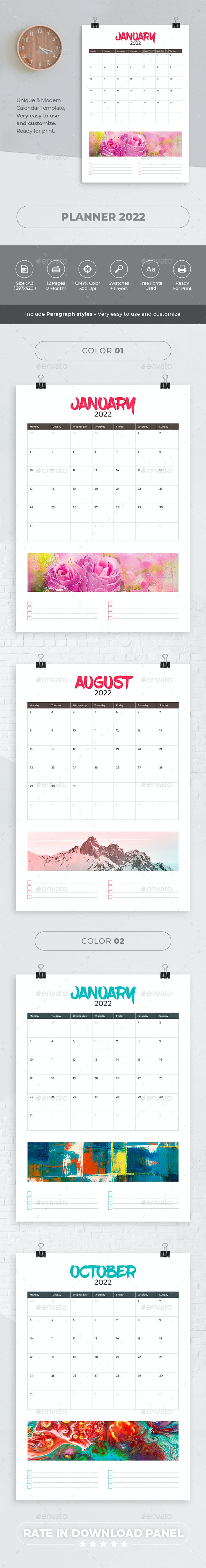 Planner 2022 - Calendars Stationery