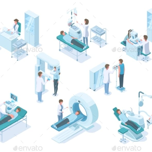 Isometric Doctors and Patients with Hospital