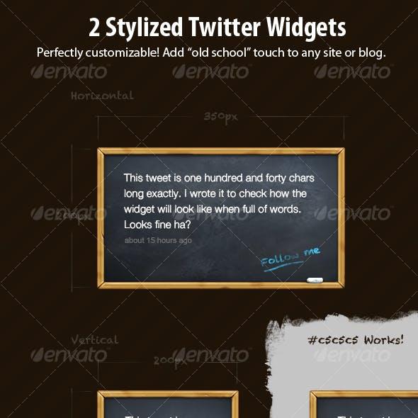 2 Stylized Twitter Widgets