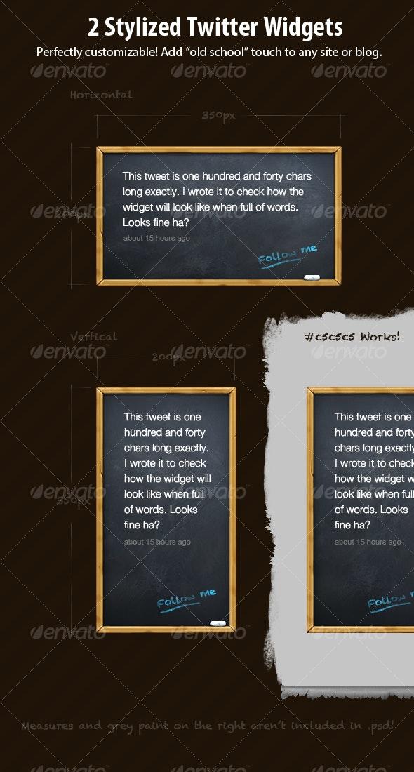 2 Stylized Twitter Widgets - Miscellaneous Web Elements