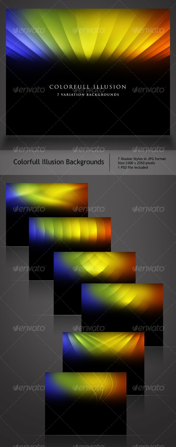 Colorful Illusion Backgrounds - Abstract Backgrounds