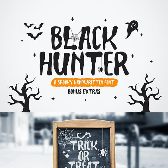 Black Hunter - Spooky Halloween Font