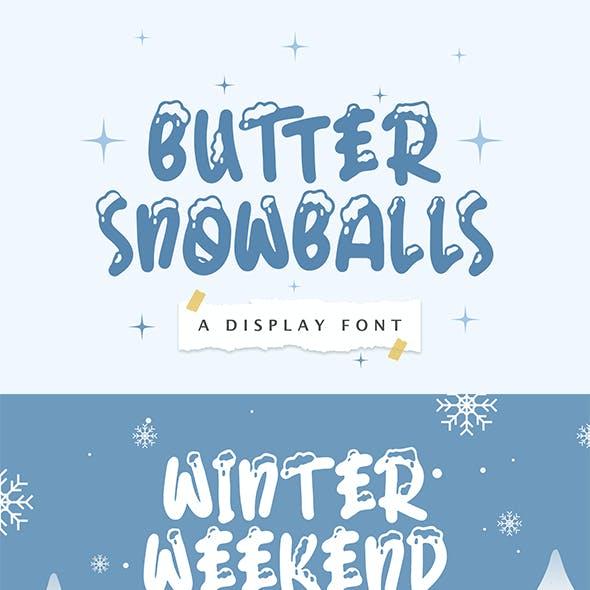 Butter Snowballs - Display Winter Font