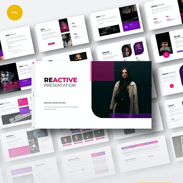 Reactive Business Googleslide Presentation