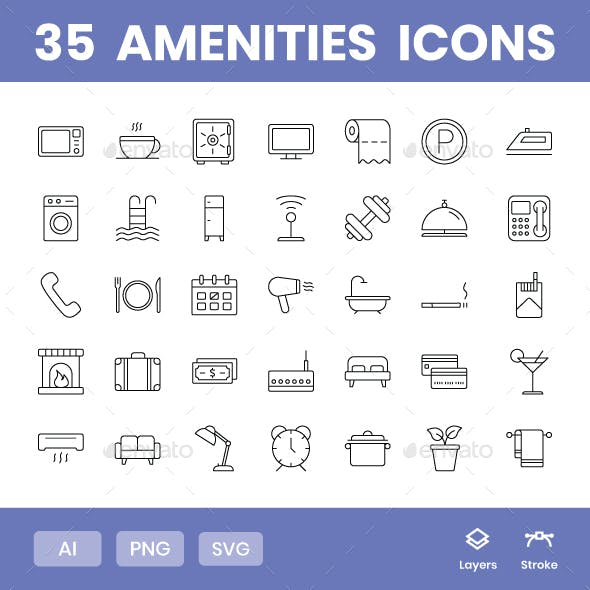Amenities - Icons Pack