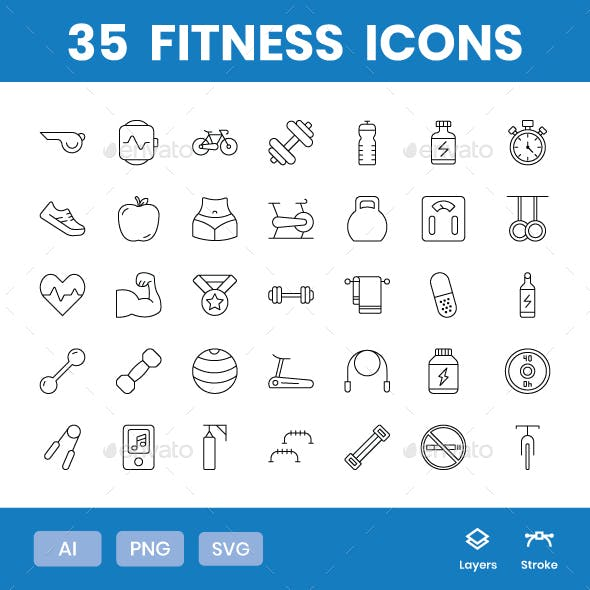 Fitness - Icons Pack