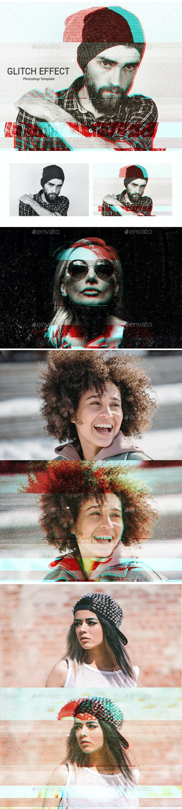 Glitch effect photoshop - Tech / Futuristic Photo Templates
