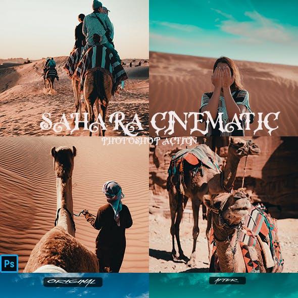 Sahara Cinematic Photoshop Action