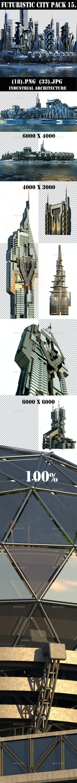 Futuristic City 15. Industrial Architecture - Architecture 3D Renders