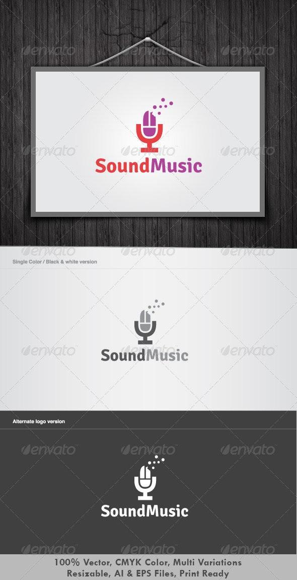 Sound music logo - Objects Logo Templates